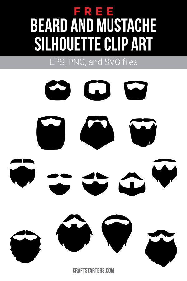 Free Beard And Mustache Silhouette Clip Art Silhouette Clip Art Free Beard Clip Art