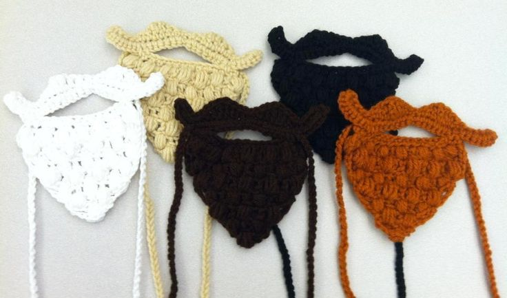 Crochet beard party pattern. Perfect Gag gift or costume! Only $3.50 until Halloween!