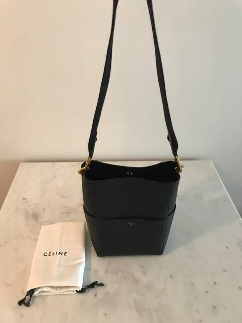 56e983e1dbd2 Celine Sangle Small Bucket Bag in soft grained calfskin