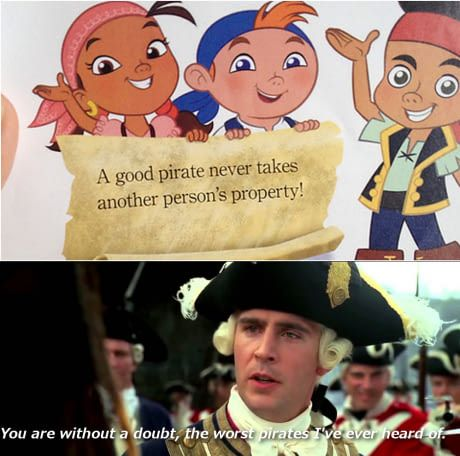 Disney telling Disney what pirates do
