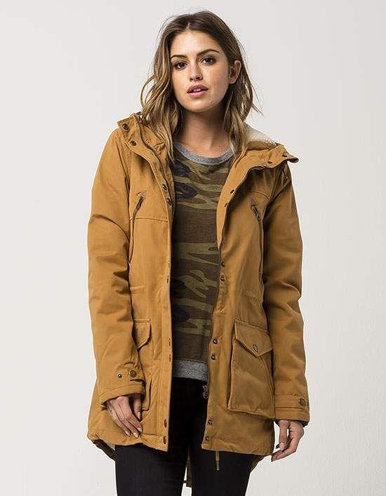 Brown Parka Jacket Womens | Outdoor Jacket
