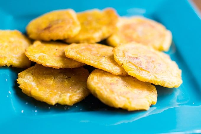 Tostones are a tasty snack made from green plantains. They are popular in Puerto Rico, The Dominican Republic and many other countries. Try this tostones recipe today!
