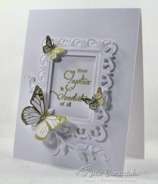 love the gold embossed butterflies