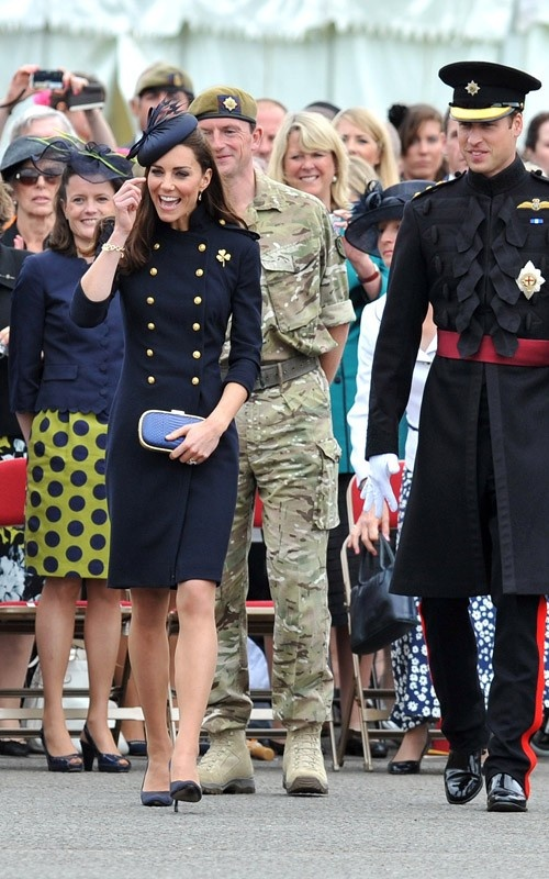 laughs! (at Irish Guards Medal Parade)