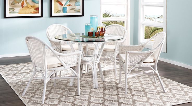 Rattan Casual Dining Room Sets For 5