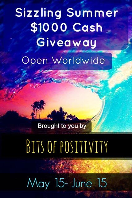 HUGE Worldwide giveaway with 2 $500 cash prizes and a bonus $250 cash prize! Sizzling Summer $1000 (now $1250) Cash Giveaway!