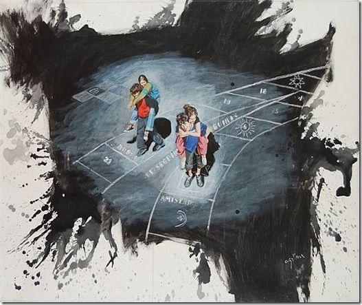 """""""Te seguiré, me seguirás"""" de Claudio Gallina, pintor argentino"""
