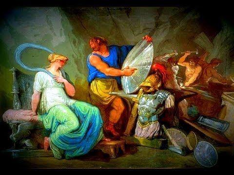 ILIAD, ACHILLES ARMS , HEPHAESTUS, THETIS, VULCAN