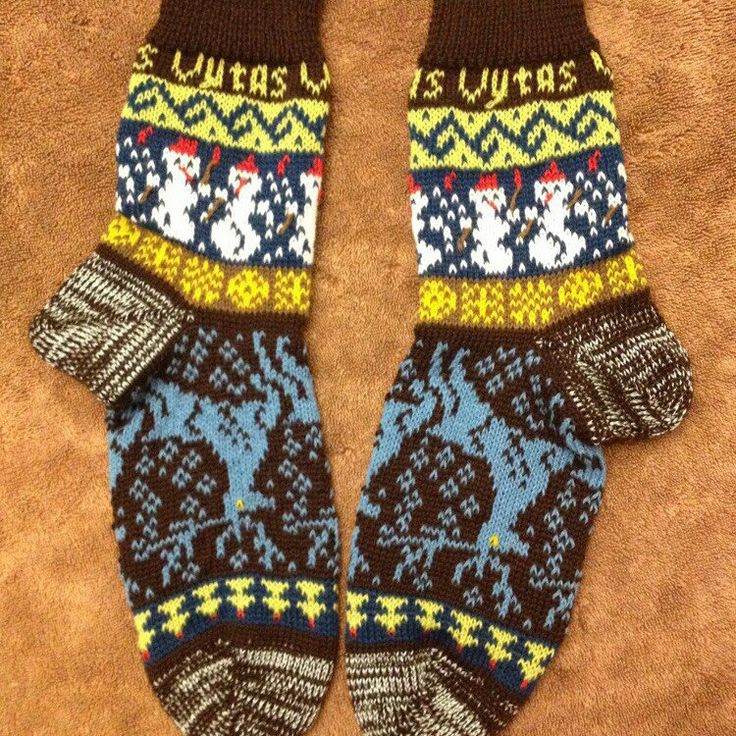 Personalized handmade knitted socks! Perfect warm gift for all!