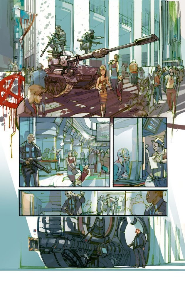 comic page by Greg Tocchini