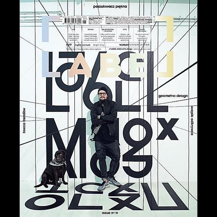 By http://www.instagram.com/coverjunkie / This cover of @labelmagazine was inspired by the theme geometry.  The cover is the work of #OskarPodolski OESU and #PawełFabjański.  Photos and art direction: Paweł Fabjański Model: Oskar Podolski Set design: Justyna Bugajczyk Make up: Pola Dźwigała Retouch: Bartłomiej Klus