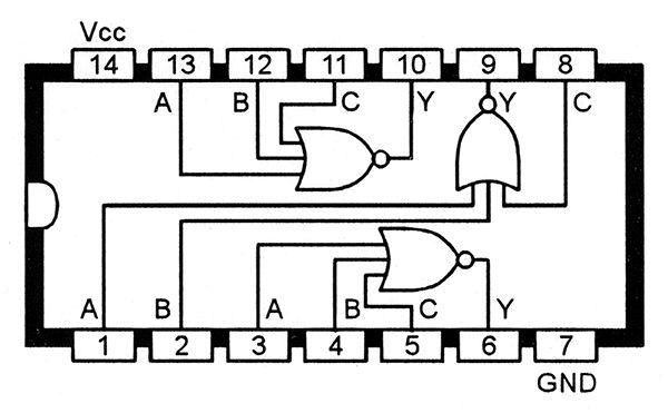 functional diagram of the 4025b triple three