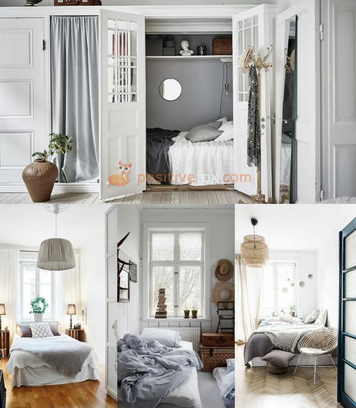 Small Spaces Scandinavian Bedroom. Nordic Design Ideas With Best Examples.