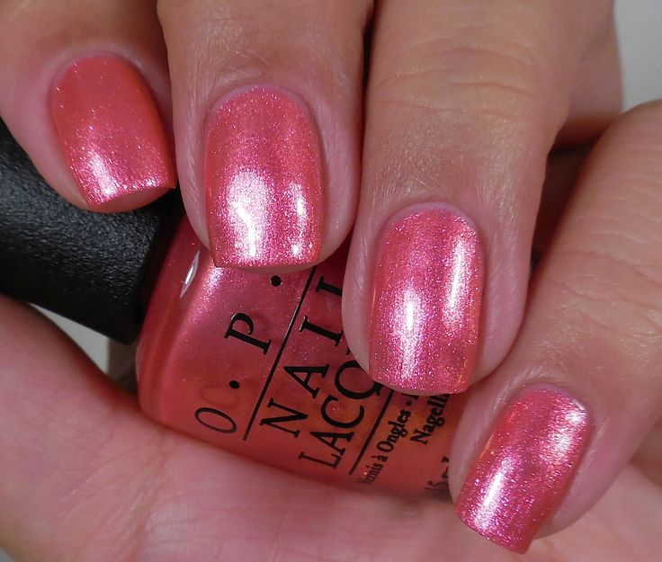 OPI I Can't Hear Myself Pink! from the 2015 Summer Brights Collection. A gorgeous shimmer/glitter, this bubble gum pink took 3 coats to get adequate coverage, but it was so flirty and feminine that I can't complain! Great color for both fingers and toes!