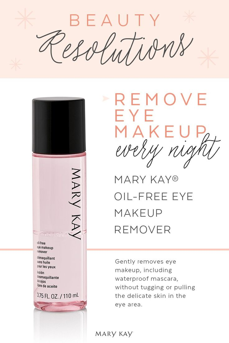 This year, we vow to remove eye makeup before bed each night! The skin around the eyes is the most delicate skin on your face. More reason to use a makeup remover that gently removes all types of eye makeup, without leaving skin feeling greasy. | Mary Kay
