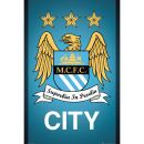 Manchester City Crest - Maxi Poster - 61 x Maxi poster featuring the crest of Premiership giants Manchester City FC. (Barcode EAN=5028486247837) http://www.MightGet.com/january-2017-11/manchester-city-crest--maxi-poster--61-x.asp