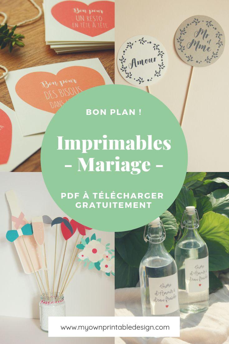 Imprimables mariage – PDF à télécharger et imprimer gratuitement