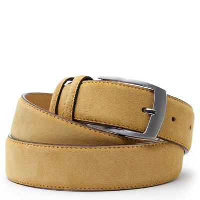 Suede riem: Golden Yellow by ColorMeSocks™