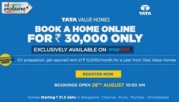 Exclusive Launch Of TATA Value Homes: Book A Home Online For Rs.30000 Only