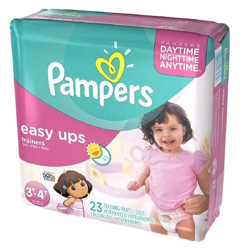 Pampers Easy Ups Easy Ups Girls, Jumbo Pack, 3T-4T (Size 6)