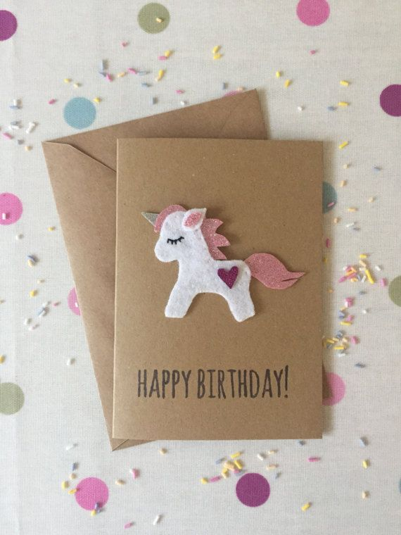 Unicornio cumpleaños lindo unicornio unicornio rosa tarjeta