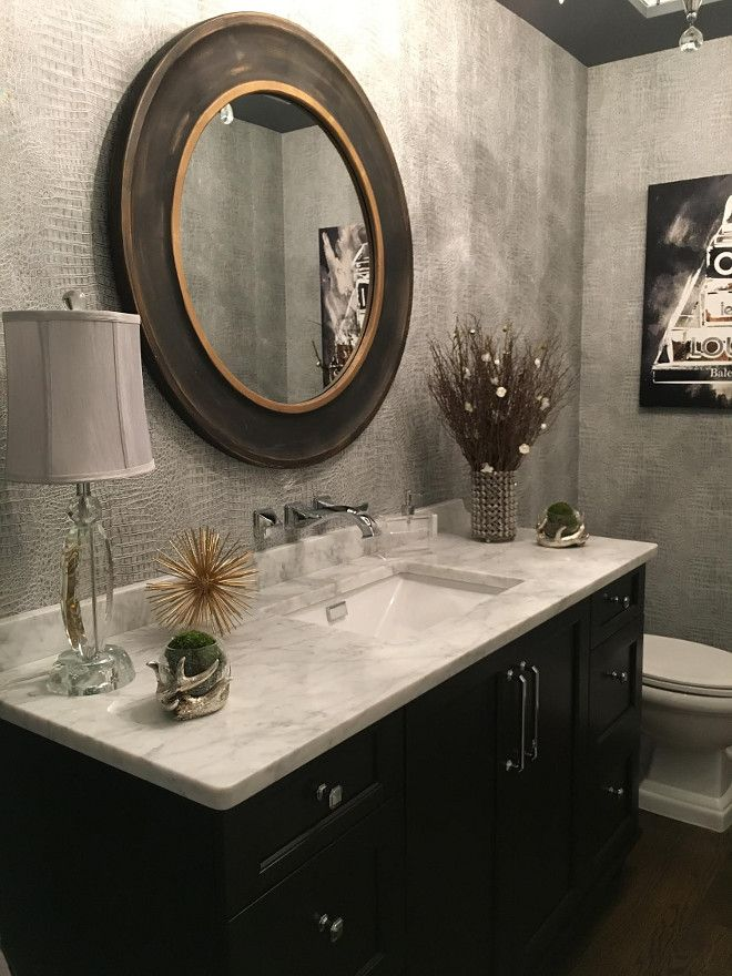 Powder Room. I wanted this room to be memorable. Guests are in this space for a…