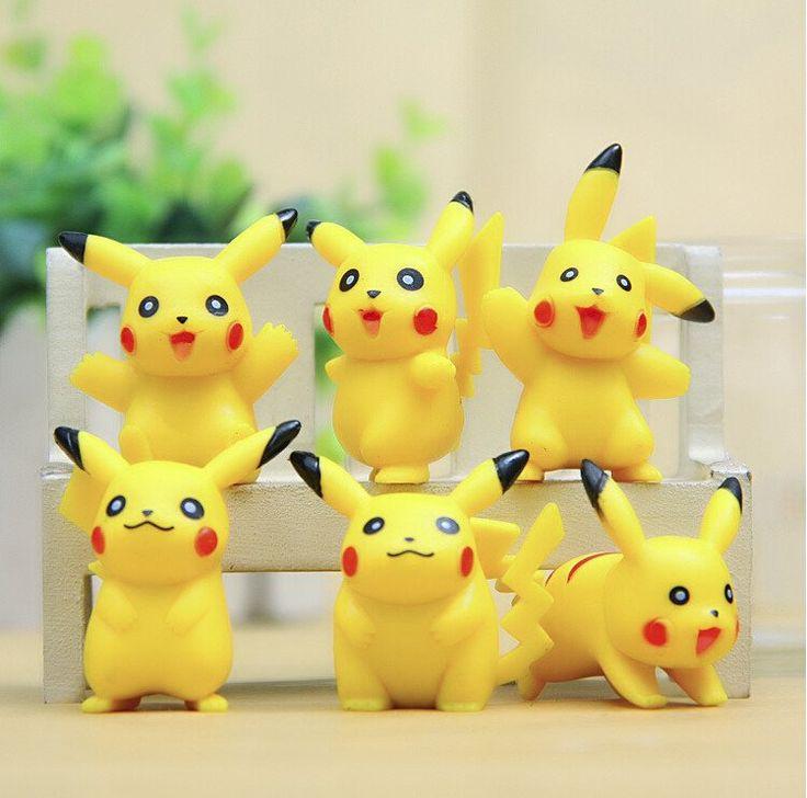 6 pieces Pokemon Go Pikachu action figures