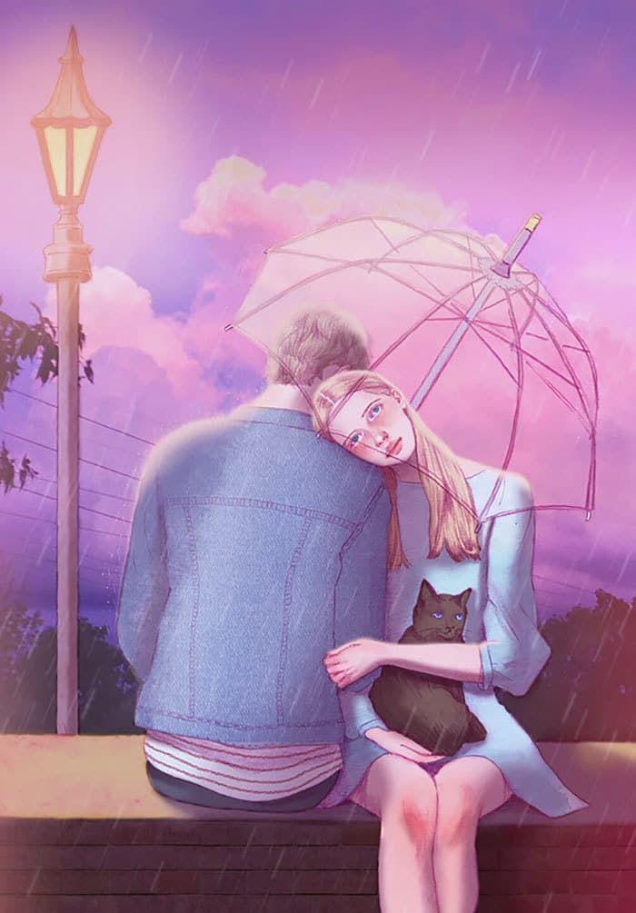 Картинка романтика любовь рисунок, для лучших