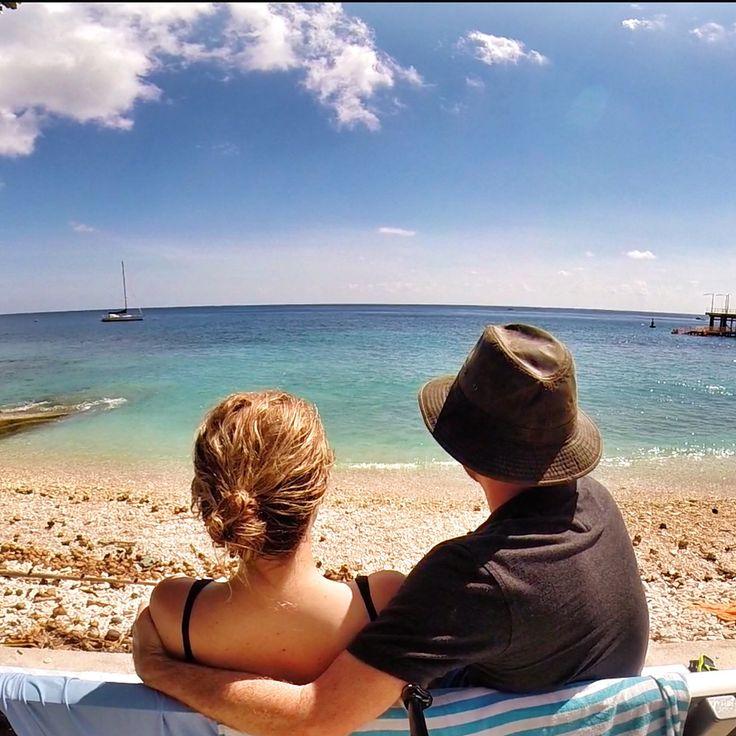 Enjoying the view. Flying Fish Cove, Christmas Island, Australia.