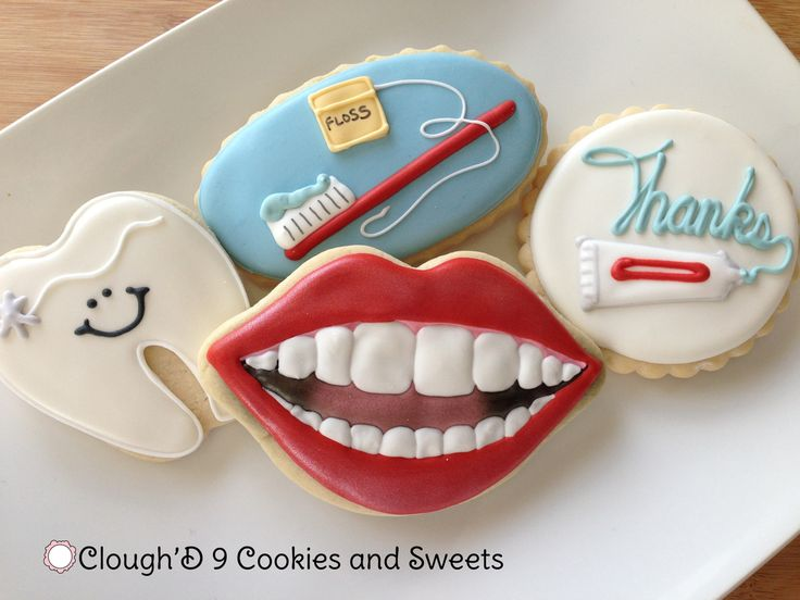 Dentist cookies-- I love the little happy tooth