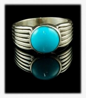 Sleeping Beauty Turquoise - An All American Mens Ring from Durango Silver Company