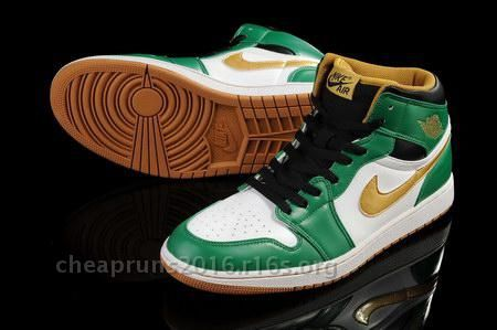 Cheap New Products Air Jordan Retro 1st I First Men Green Yellow Sneakers