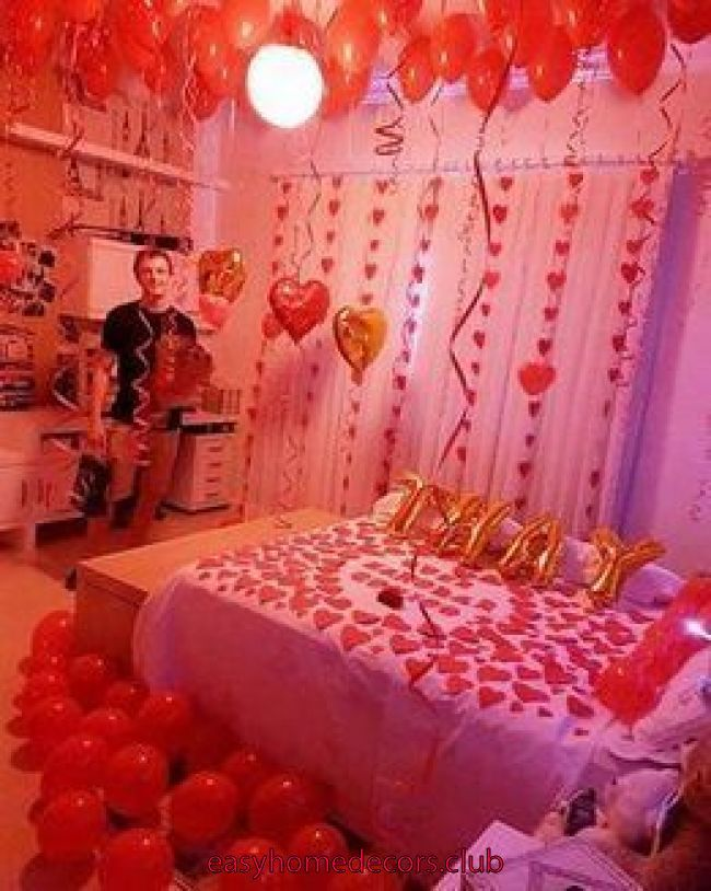 42 Stunning Diy Romantic Valentine S Day Decorations Ideas Whether Single Or Within A R Romantic Room Surprise Romantic Valentine Valentines Day Decorations
