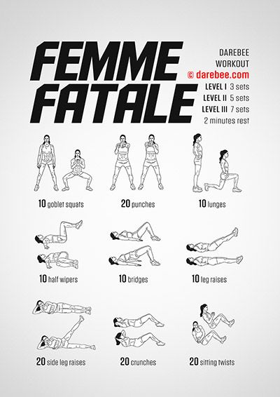 Femme Fatale Workout | Posted By: CustomWeightLossProgram.com