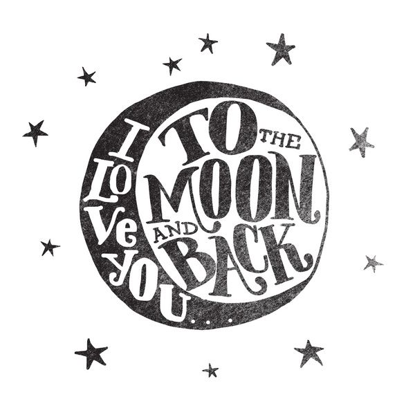 I LOVE YOU TO THE MOON AND BACK Framed Art Print by Matthew Taylor Wilson | Society6