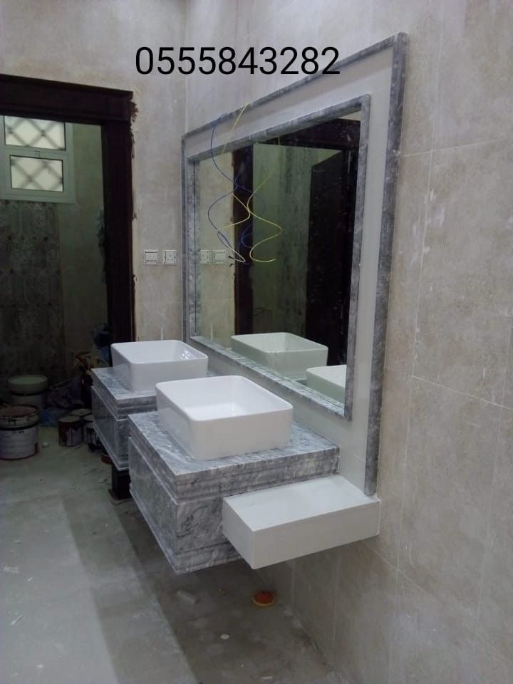 صور مغاسل رخام حمامات Lighted Bathroom Mirror Bathroom Mirror Bathroom Lighting