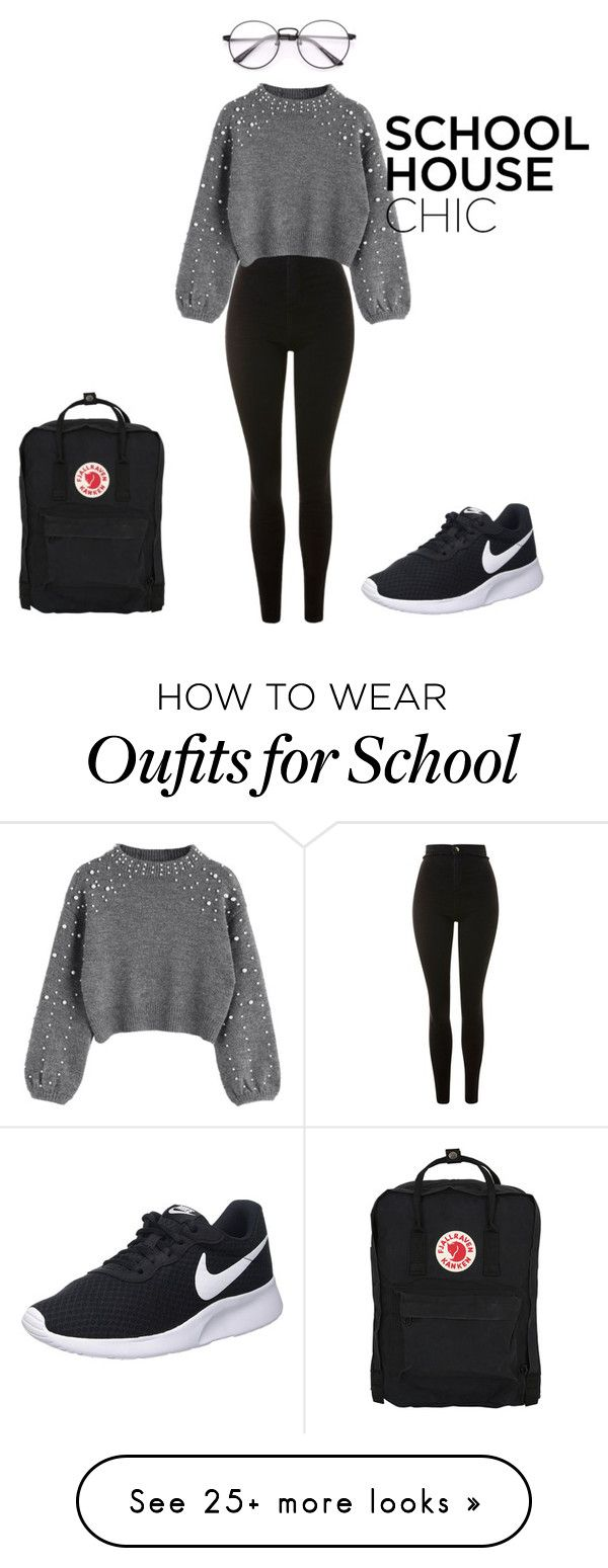 """School House Chic"" by rrr5142007 on Polyvore featuring Topshop, NIKE and Fjällräven"