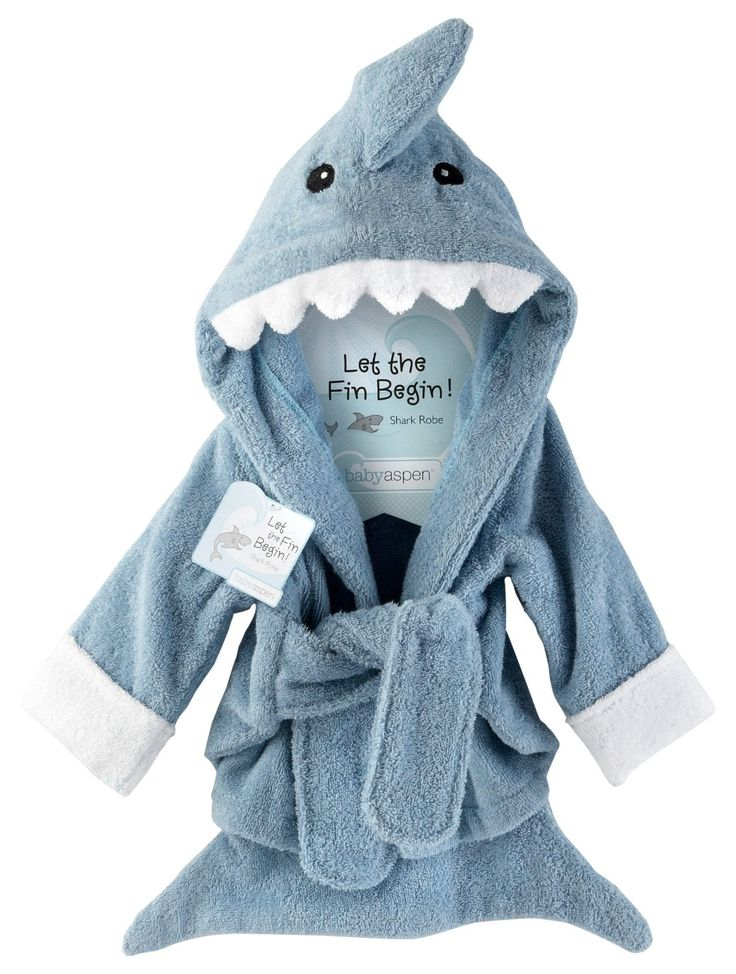 Baby Blue Terry Shark Robe | DudeIWantThat.com