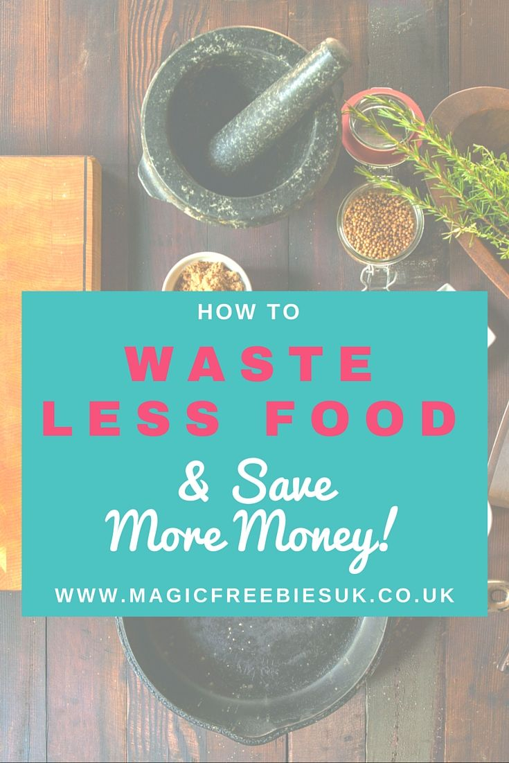 We've put together some top tips to help you waste less and save more money. From preparing your meals to what to do with food that's past it's best.  #frugalmealplanning #savemoney #wastelessfood