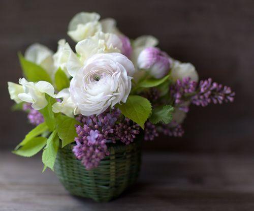 ranunculus and lilacs - glorious!
