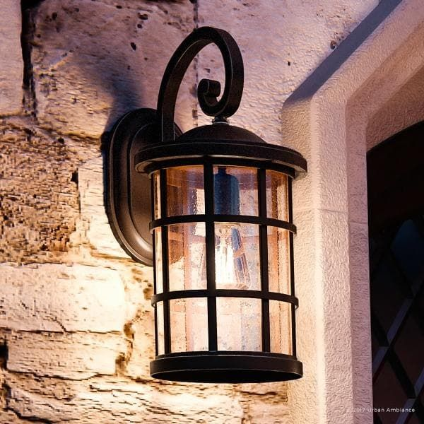 Luxury Craftsman Outdoor Wall Light 17 75 H X 10 W With Tudor Style Wrought Iron Design Parisian Bronze Finish Outdoor Wall Lighting Outside Light Fixtures Wall Lights