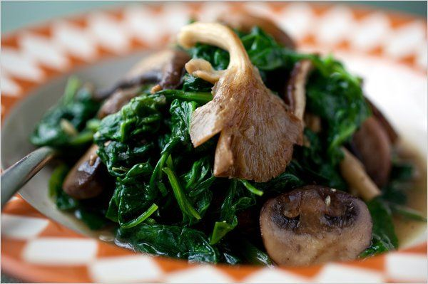 Sautéed Spinach With Mushrooms - NYTimes.com