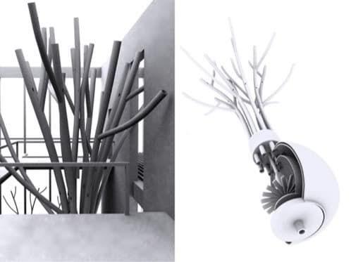 Ryuichi Tabu realizó un ingenioso concepto de acondicionador de aire ASETA. La climatización la hace mediante un intercambio de calor geotermal en acuíferos
