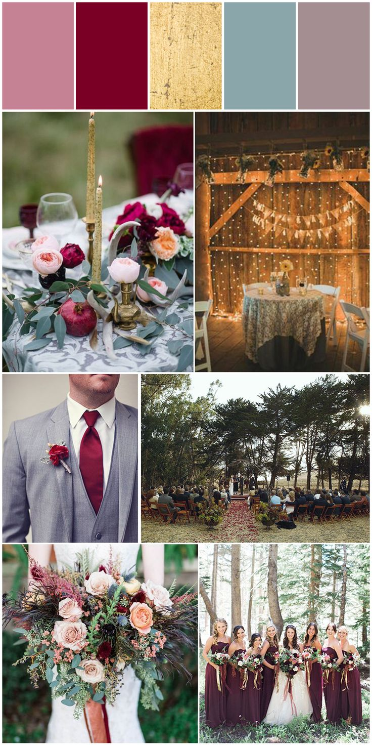 Cody Amp Michelle S Wedding Color Scheme Mauve Burgundy
