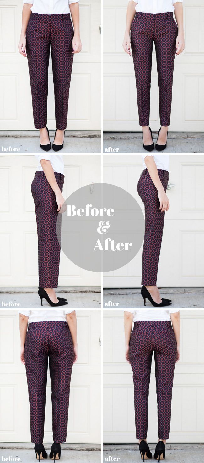 How to alter pants