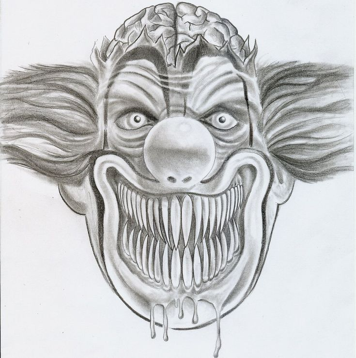 ugly clown joker design by 2face tattoo designs interfaces tattoo ...