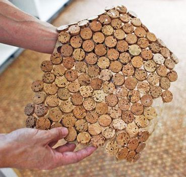 Cork Floor Made From Recycled Wine Corks