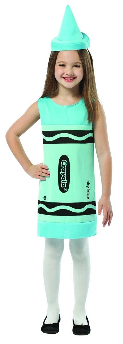 Crayola Sky Blue Tank Costume Dress Child