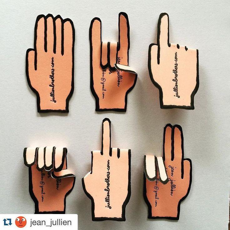 Jean Jullien Letterpress Business Cards on Behance