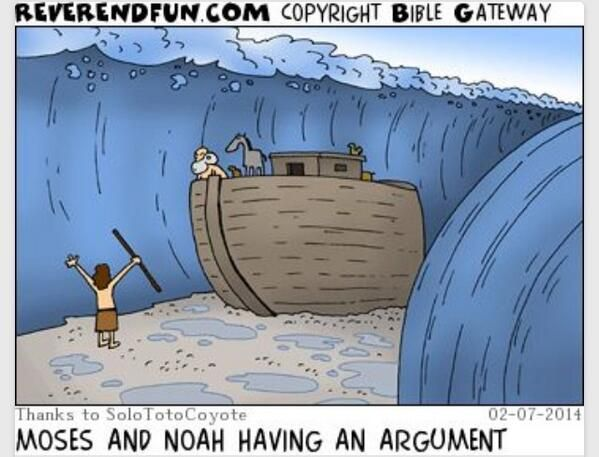Twitter #LOL Moses and Noah having an argument